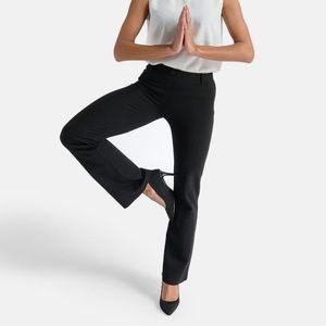Betabrand black boot cut dress pants